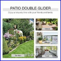 2 Person Double Rocking Chair Patio Glider Front Porch Furniture Outdoor Seating