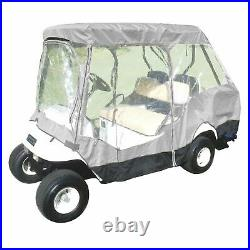 4 seater with short 58 roof golf cart driving enclosure cover grey