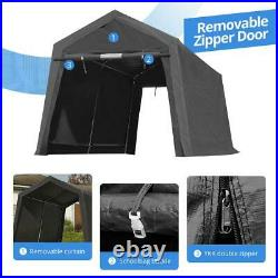 6x8/7x12/8x14/10x10 Outdoor Storage Shelter Shed Carport Canopy Garage Car Tent