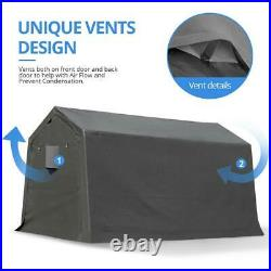 7x12 Outdoor Storage Shelter Shed Heavy Duty Carport Anti-snow Garage Car Tent