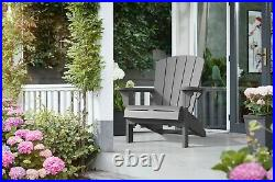 ADIRONDACK CHAIR All-Weather Resistant Resin Polypropylene Outdoor NEW