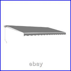 ALEKO 10 x 8 Feet Retractable Home Patio Canopy Awning, Grey Color