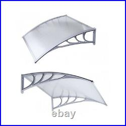 ALEKO 40 x 47 Inches Polycarbonate Outdoor Window Door Canopy Awning Cover, Gray