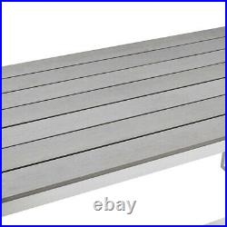 All-Weather Outdoor Patio Bench in Gray