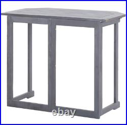 Balcony Folding Table Furniture For Small Space Patio Outdoor Dining Acacia Wood