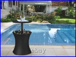 Cool Bar Outdoor Patio Furniture Hot Tub Side Table 7.5 Gallon Beer Wine Cooler