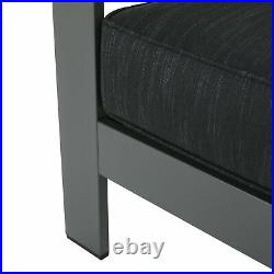 Crested Bay Outdoor Gray Aluminum Club Chairs with Water Resistant Cushions