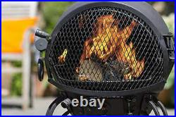 Extra Large Garden Chiminea Outdoor Chimney in Bronze Fire Pit steel