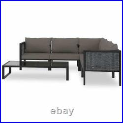 Garden Patio Outdoor Lounge Table Chair Corner Sofa Set Furniture With Cushion