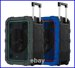 Gemini 10 Rechargeable Weather-Resistant Bluetooth Portable Trolley Speaker