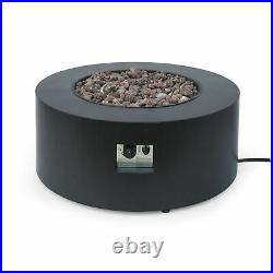 Jefferson Outdoor Round Fire Pit with Tank Holder