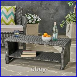 Justin Outdoor Wicker Coffee Table