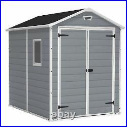 Keter 213413 Manor 6 X 8 DD All Weather Resistant Storage Shed, Grey (Open Box)