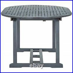 Large Garden Wooden Table Outdoor Dining Tables Umbrella Hole Adjustable Length