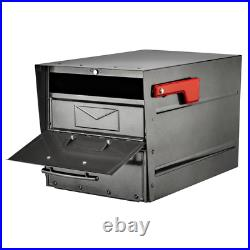 Lock Parcel Mailbox Post Mount Anti Theft Security Mail Pewter Galvanized Steel