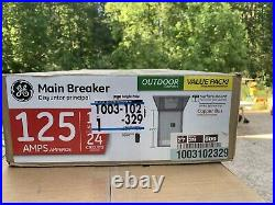 NEW! 24-Circuit Main Breaker 125 Amp 12-Space Outdoor Load Center Contractor Kit