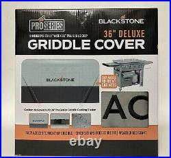 NEW Blackstone 36 Deluxe Griddle Cover Front Zippers Weather Resistant Gray