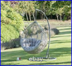New Siena Hanging Egg Chair Snuggle Patio Garden Furniture Soft Cushion Floating