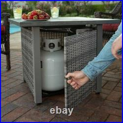 OUTDOOR LP FIRE PIT TABLE PATIO HEATER WithCOVER, LID FIRE GLASS Protective Cover