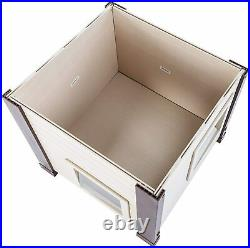 Outdoor Feral Cat Shelter Weather Resistant House Crate Dog Kennel Pet Cabin Box