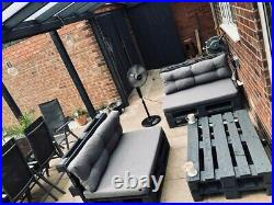 Outdoor Garden Chairs/Table Patio Grey Pallet Furniture