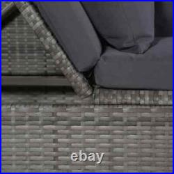 Outdoor Lounge Bed Rattan Patio Sofa Set Pool Sunbed Daybed Furniture Cushion