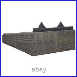 Outdoor Patio Daybed Garden Pool Sun Bed Rattan Chair Furniture Set with Cushion