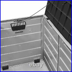 Outdoor Patio Deck Box All Weather Resistant Large Storage Container with Wheel