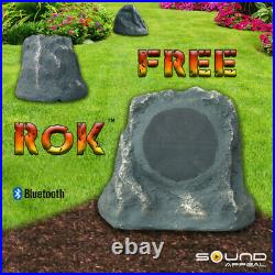 Outdoor Rock Speakers With Bluetooth FREE Rok Grey Slate