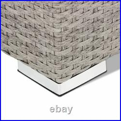 Outdoor Sectional Wicker Sofa Couch Grey Corner Sofa Table 5 PCS Patio Furniture
