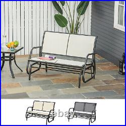 Outside Glider Swinging Lounge Chair for 2 People with Weather & UV Resistance