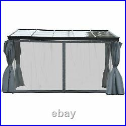 Outsunny 13' x 9.5' Outdoor Porch Patio Gazebo with Sloping Polycarbonate Roof
