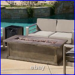 Pablo Outdoor 56-inch Rectangular Propane Fire Table
