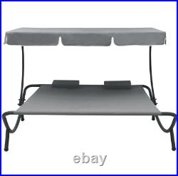 Patio Furniture Clearance Sale Outdoor Double Chaise Lounge Sunbath Canopy Bed