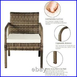Patio Rattan Sofa Set 4 Pcs Wicker Garden Furniture Outdoor Sectional Couch NEW