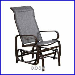 Patio Sling Fabric Glider Outdoor Swing Chair Seat Lounger Porch Heavy Duty Gray