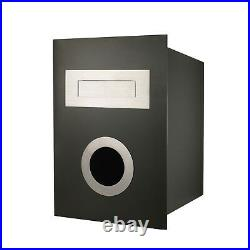 Sandleford NED KELLY FENCE MOUNT LETTERBOX 280x365x255mm Grey Stainless Steel