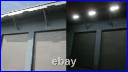 Solar Powered Outdoor LED Decoration Wall Billboard Security Flood Lights AUX