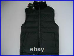 TUMI Gray REVERSIBLE Quilted DOWN INSULATED VEST Jacket Mens Size SMALL $295 NEW