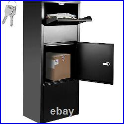VEVOR Steel Locking Extra Large Drop Box Freestanding Mailbox for Home Office