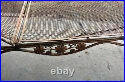 VINTAGE Russell Woodardwrought iron mesh chaise lounge Hollywood Regency MCM