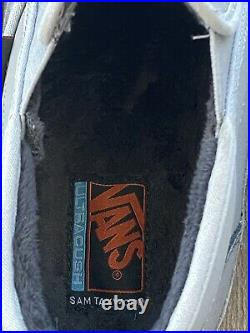 Vans Mens Size 10.5 Womens 12 Mid Slip On SF MTE Leather Suede Grey Gray Black